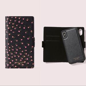 Kate Spade Sylvia Meadow iphone XS MAX Folio Case